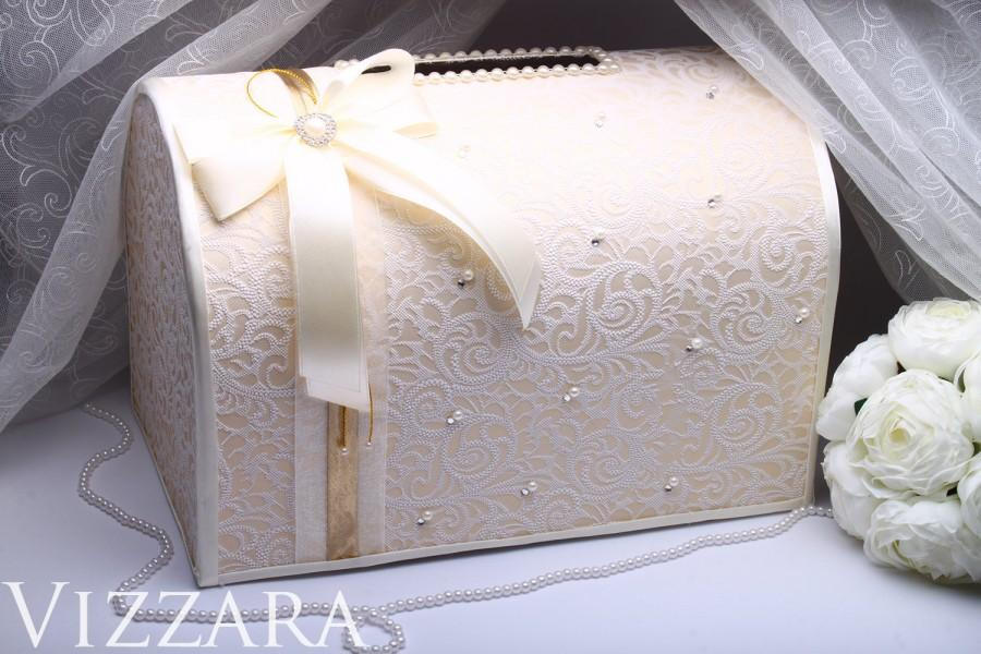 Wedding Money Box Ivory Wedding Card Box Gift Card Holder Wedding ...
