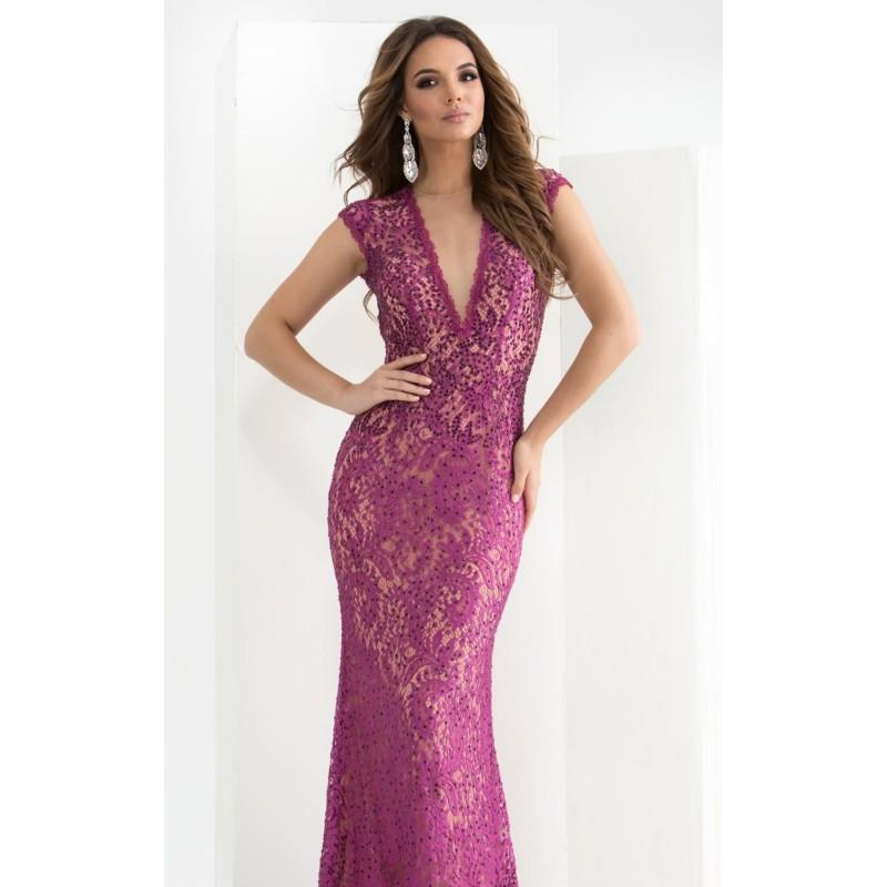 Magenta Beaded Lace Gown By Jasz Couture - Color Your Classy ...