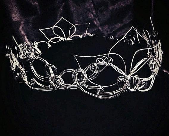 زفاف - Silver Bridal Crown