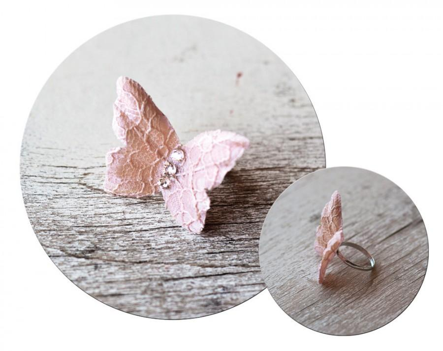 Свадьба - 74_Butterfly ring, Butterfly accessories, Bridesmaid gift, Blush Original ring, Butterfly jewelry, Pink butterfly, Beautiful ring Gift ideas