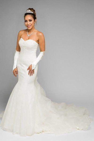 Mariage - Inexpensive Mermaid Wedding Dress Jul#347 Wedding Dress