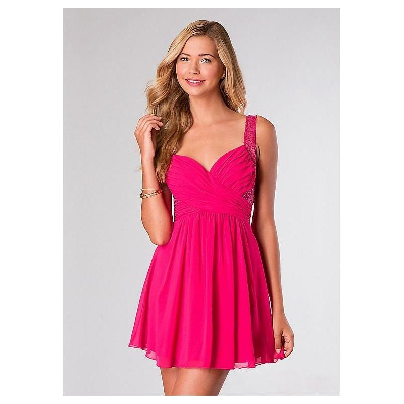 Свадьба - Amazing Chiffon & Sequin Lace A-line Spaghetti Straps Neckline Short Homecoming Dress - overpinks.com