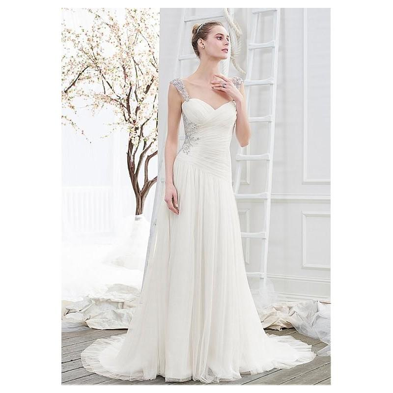 Wedding - Delicate Tulle Sweetheart Neckline Dropped A-line Wedding Dresses With Beaded Embroidery - overpinks.com