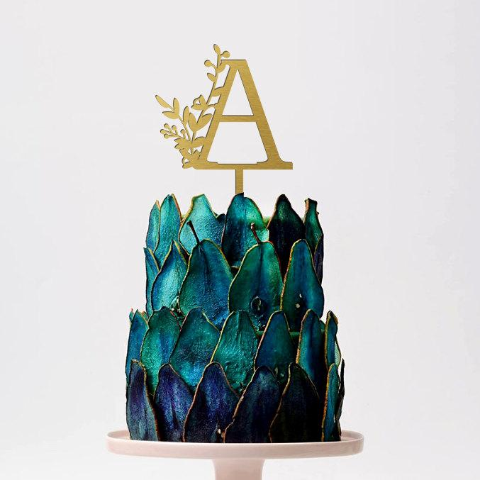 Mariage - Wedding  Cake Topper Letter Cake Topper Monogram Wedding Cake Topper Single Letter Cake Topper Gold Wedding Cake Topper Anniversary Decor