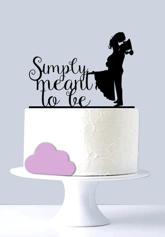 Mariage - Simply meant to be - Wedding Cake Topper - Marine Corp Cake Topper A2032