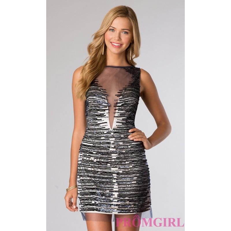 Wedding - Short Sleeveless Dress - Brand Prom Dresses