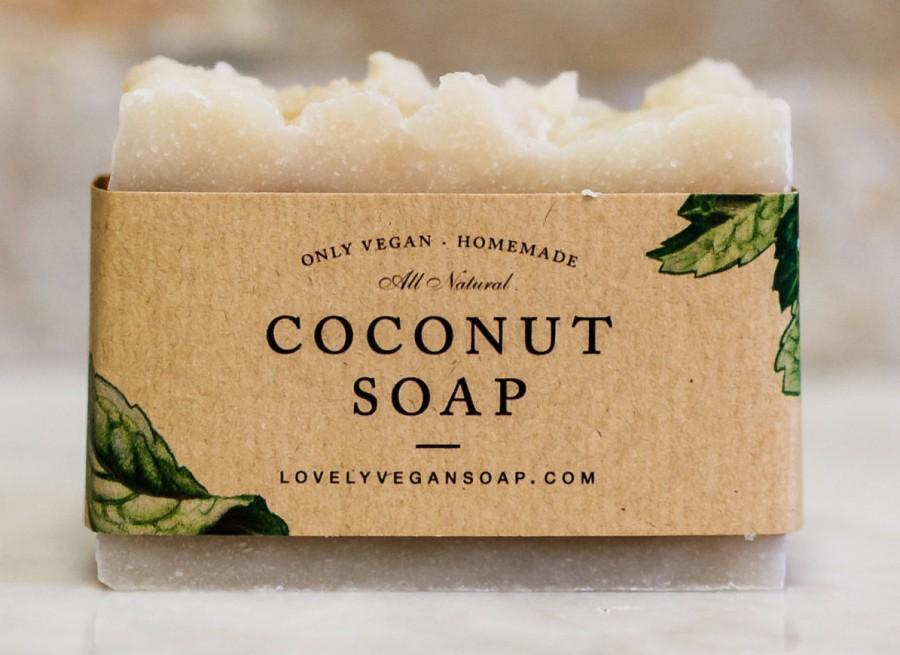 Coconut Soap, coconut oil soap, dry skin soap, vegan soap, Valentine's Day gift, homemade soap, handmade soap, hypersensitive skin, spa soap