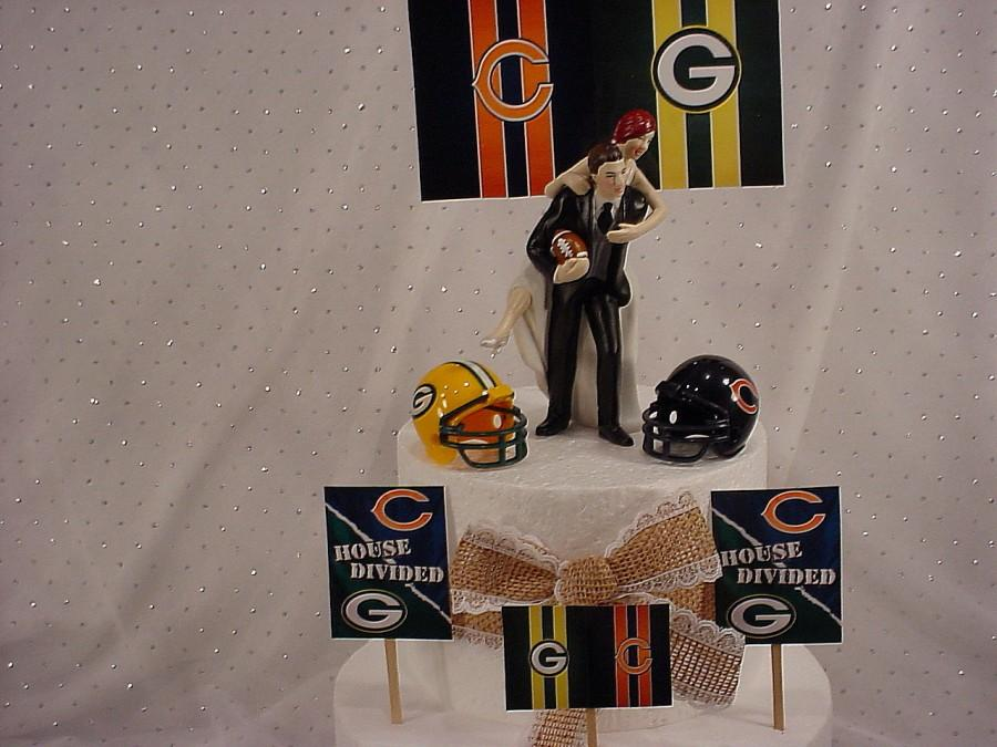 Playful Football Groom And Bride Wedding CakeToppers -Fun Weddings ...