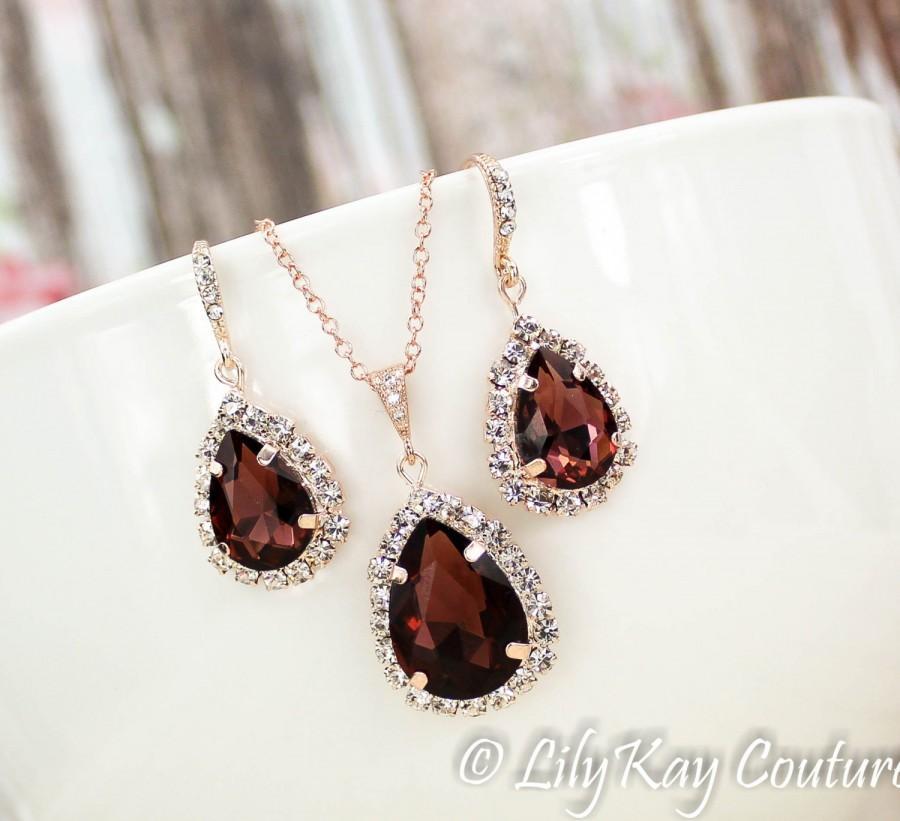 Свадьба - Burgundy Earrings Marsala Bridesmaid Earring Wine, Merlot, Cranberry Bridesmaid Jewelry Rose Gold Burgundy Rose Gold Earring Dark Red Ruby