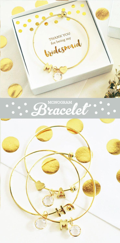 Mariage - Bridesmaid Charm Bracelets for Bridesmaid Bracelet Bridesmaid Jewelry Set Unique Bridesmaid Gift Bridesmaid Braclet (EB3144)