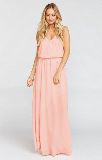 Wedding - Kendall Maxi Dress ~ Frosty Pink Crisp
