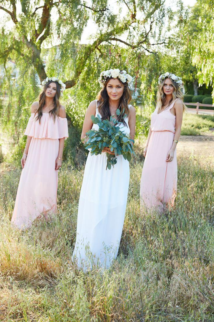 Wedding - Hacienda Maxi Dress ~ Frosty Pink Crisp
