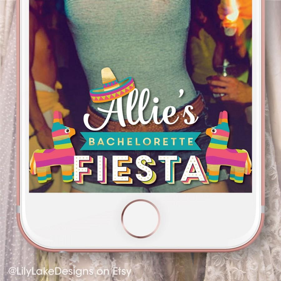 Wedding - Personalized Bachelorette Party Fiesta Snapchat Geofilter