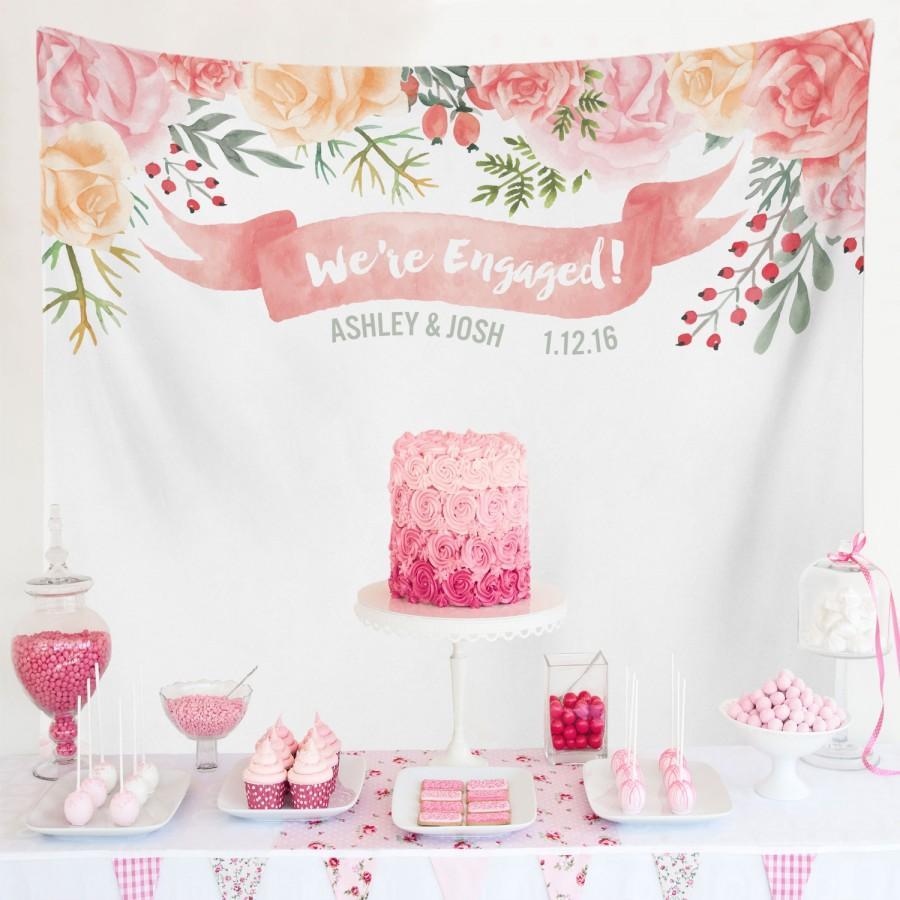 Свадьба - Bridal Shower Banner Decorations, Engagement Decoration, Engagement Party Decorations, Engagement Party Banner / W-G19-TP MAR1 AA3
