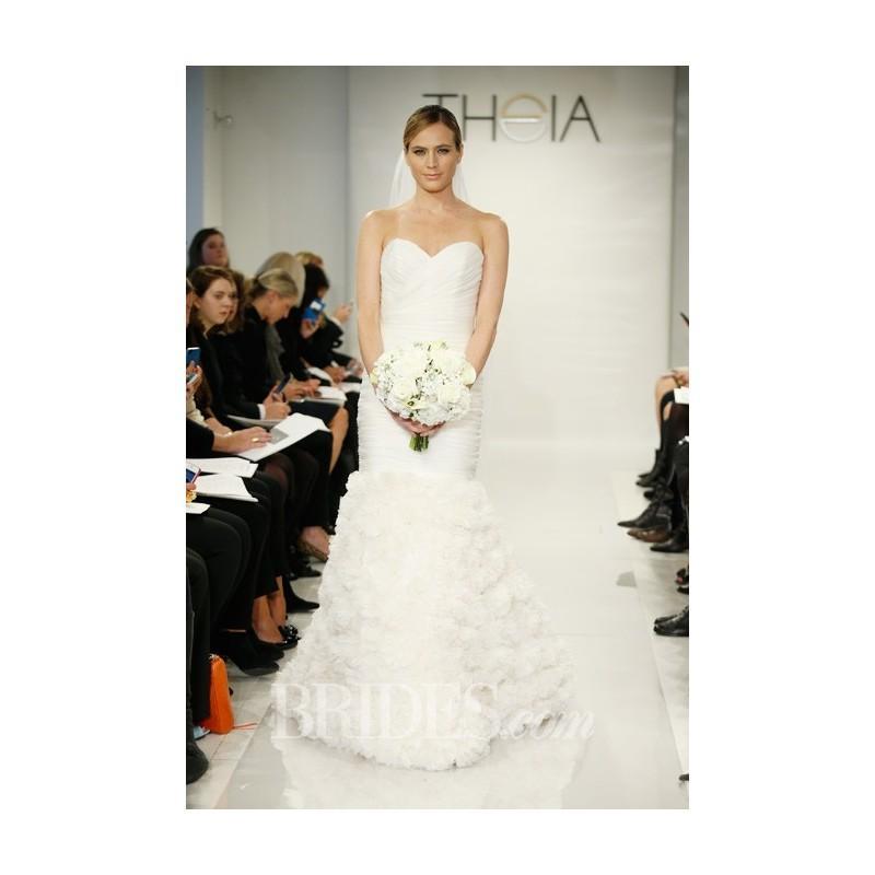 Theia - Fall 2014 - Eloise Silk Organza Mermaid Wedding Dress With ...