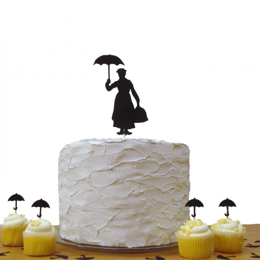 Mary Poppins Cake Topper Baby Shower Cake Topper Birthday Party