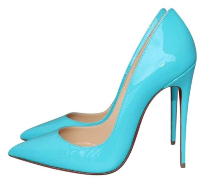 40e5ab66920 Christian Louboutin So Kate 120 Pigalle Pacific Blue Patent Pumps Shoes