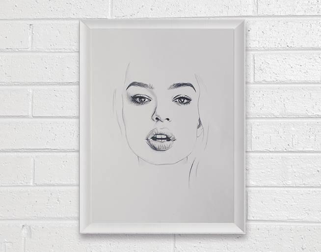 Mariage - Portrait Art Painting - Art Print