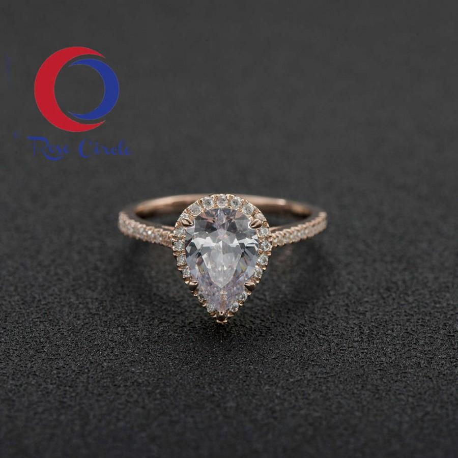Pear Shaped Diamond Engagement Ring Pear Shaped Ring Pear Shaped Engagement  Ring Rose Gold Pear Shaped Rose Gold Engagement Ring Pear 4015