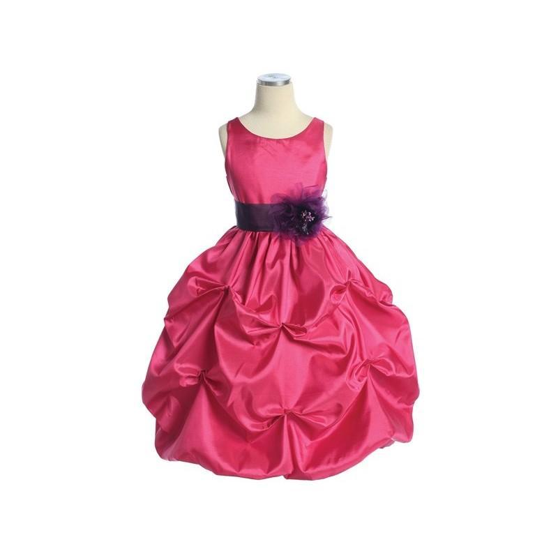 6e785a8d1ca8 Fuchsia Purple Taffeta Bubble Pick Up Dress Style  D3330 - Charming ...