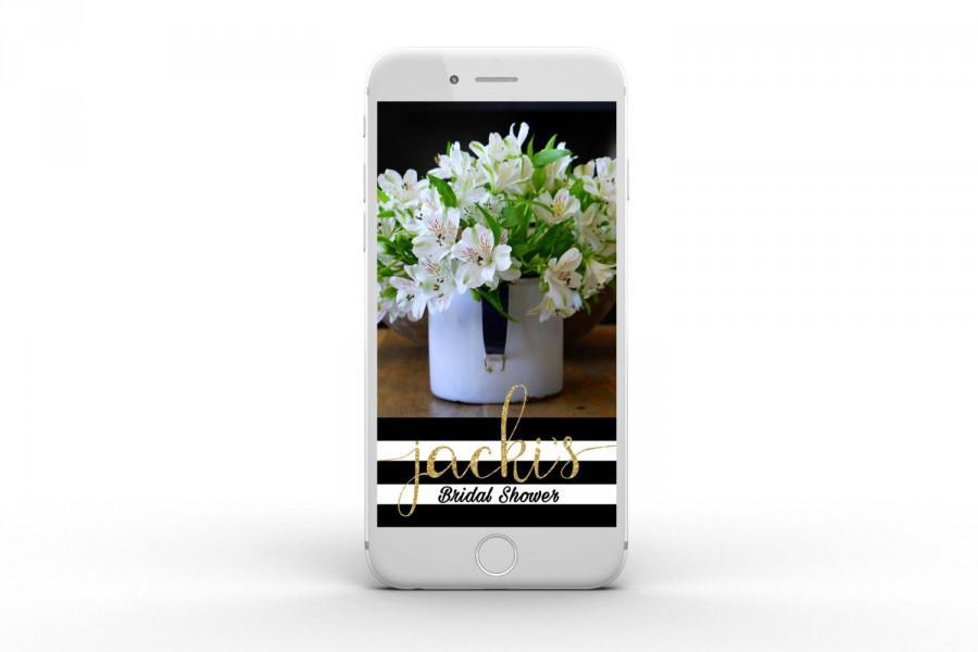 Wedding - Bridal / Baby Shower Snapchat Geofilter - customizable