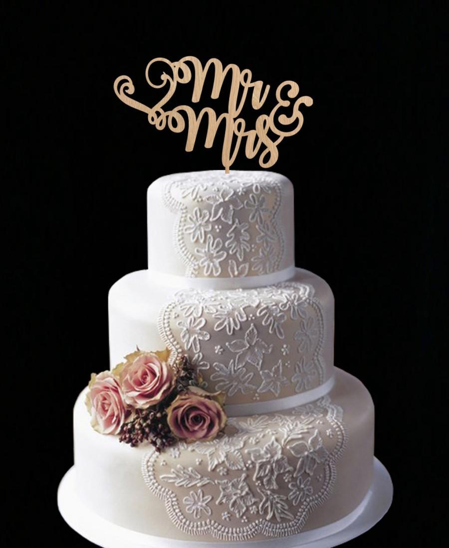 Mr And Mrs Wedding Cake Topper Wedding Cake Decor Monogram Cake