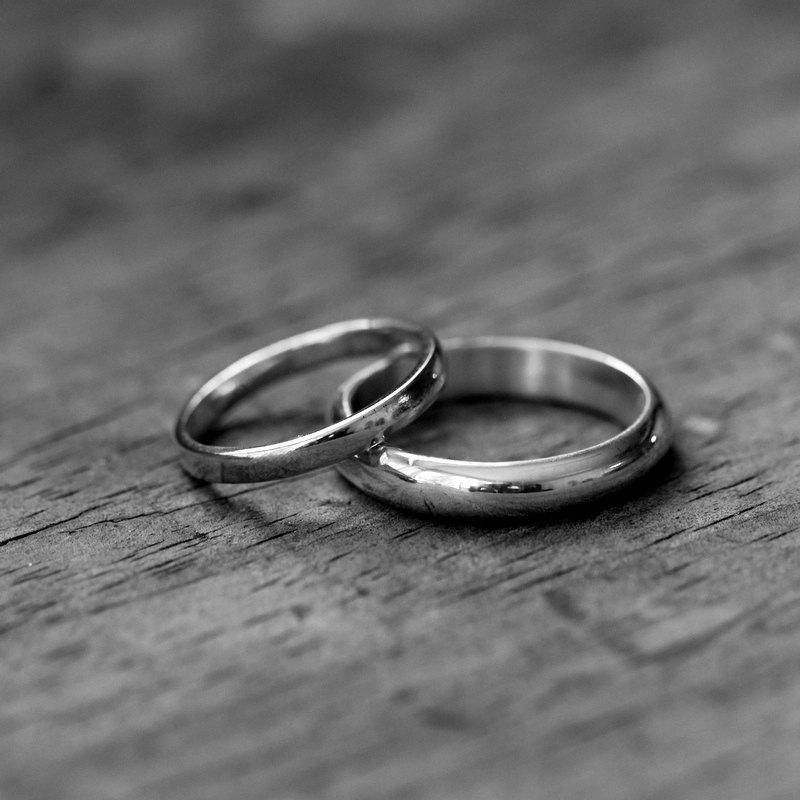 Wedding - 14k Palladium White Gold Ring, Made To Order Simple, Handmade Engagement or Wedding Ring