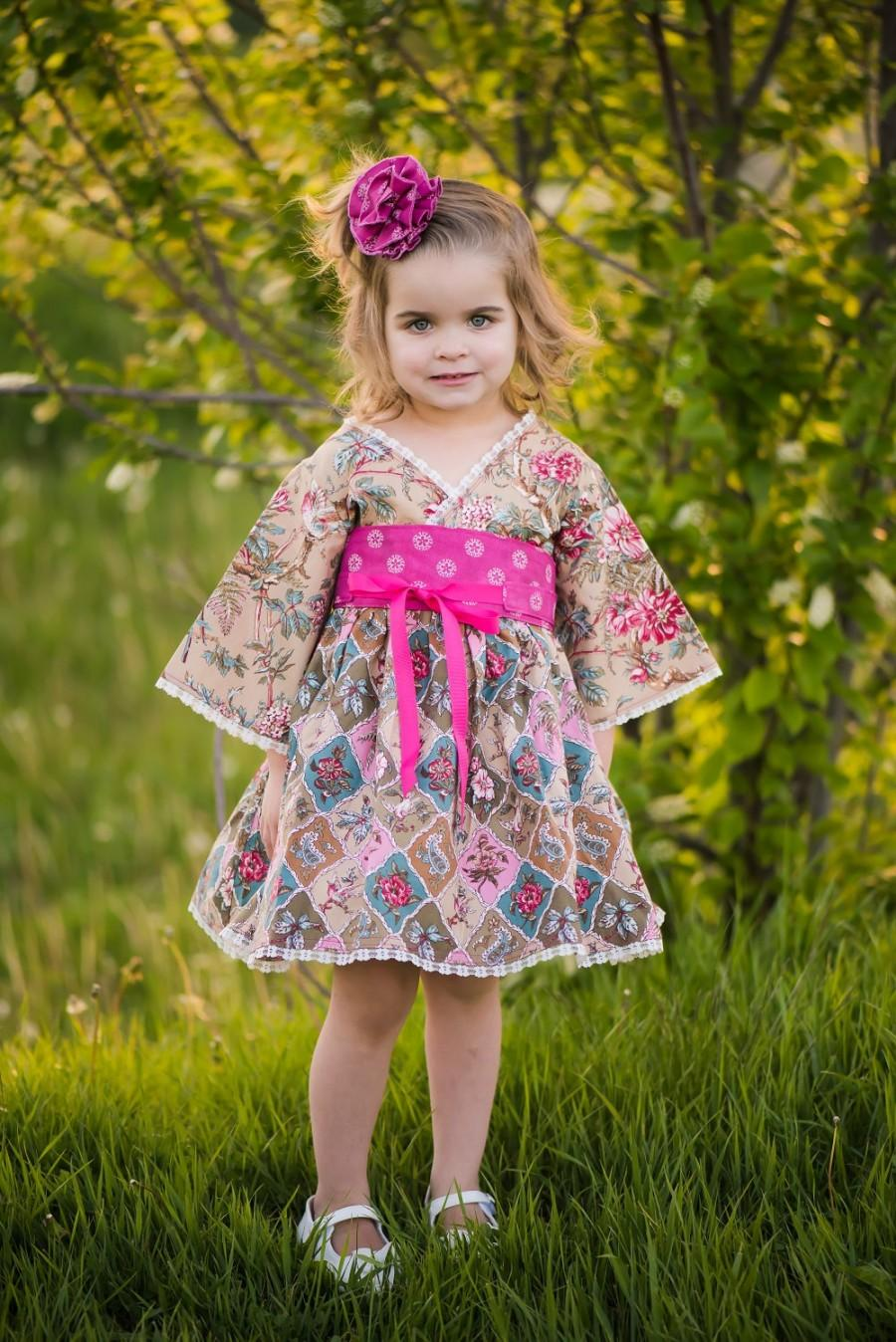 Country Flower Dress Toddler Dresses Little Clothes Pink Lace Baby Birthday Romatic Tween 12 Mos To 14 Years