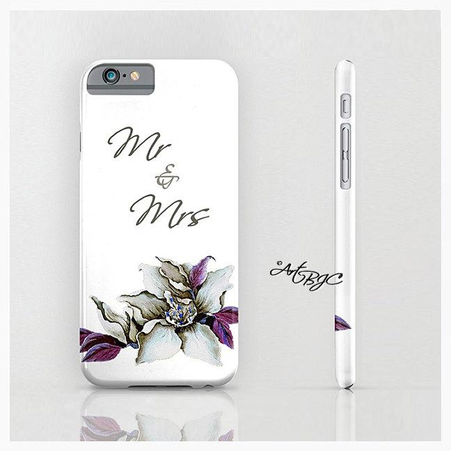 Mariage - Wedding Bride iPhone Case, Mr Mrs, Foral, Flower, iPhone 6, Mobile Accessories, 6s, 6 Plus, SE, 5 5s, Under 25, Gifts for Her, 177C_ArtBJC