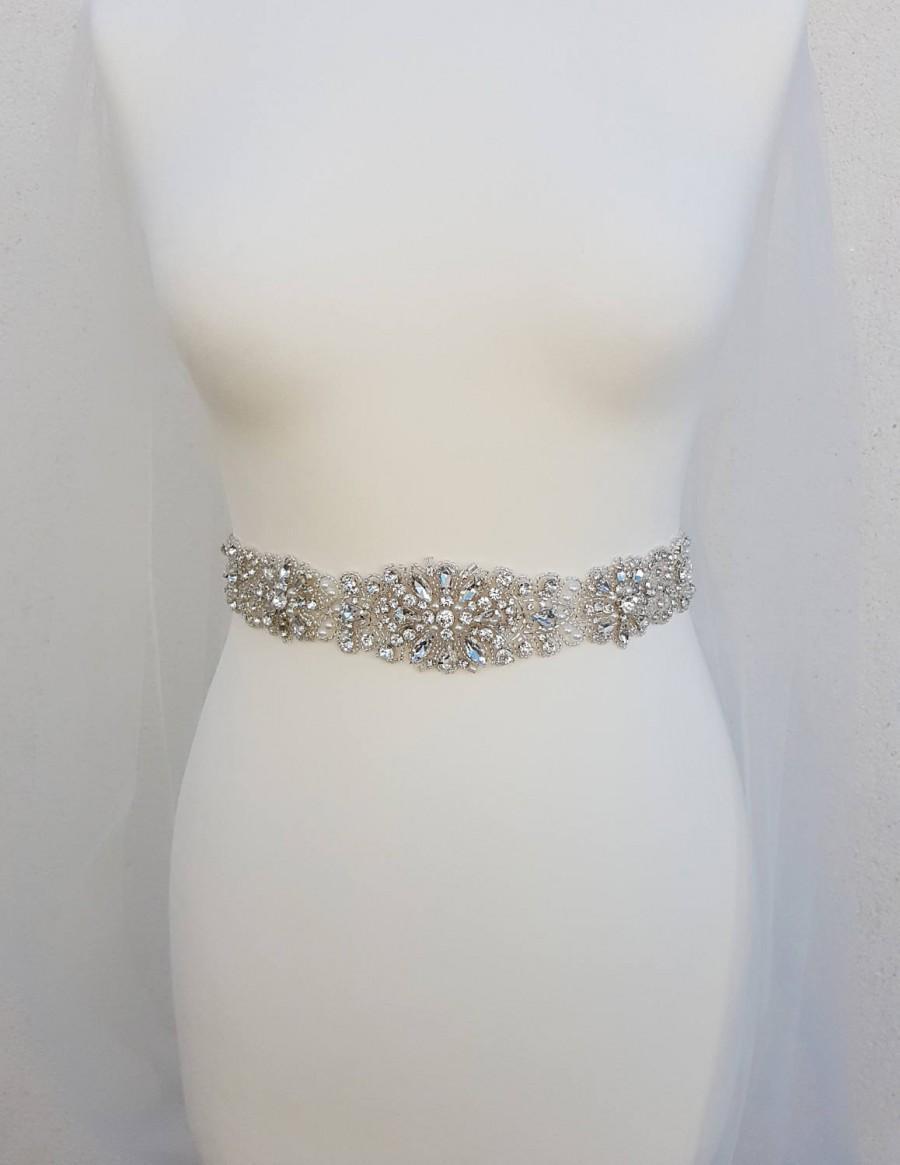 Mariage - Bridal belt, wedding belt, bridal sash, rhinestone belt, wedding dress belt, bridal accessories, sash belt, beaded bridal sash, LAURA
