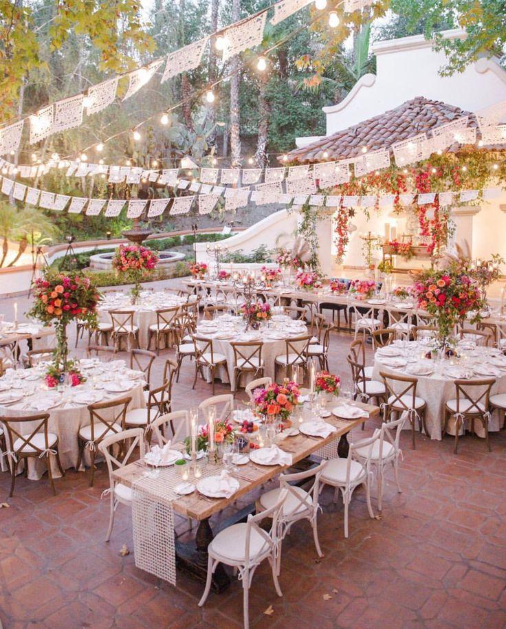 Hacienda Wedding Papel Picado Banners Personalized