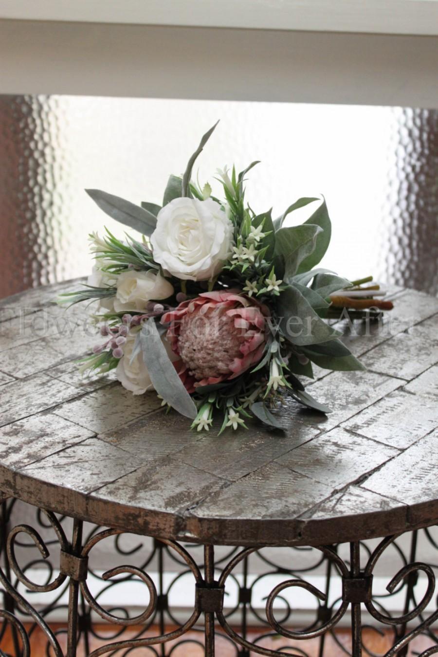 Lorraine ii bridesmaid soft pink protea with australian natives and lorraine ii bridesmaid soft pink protea with australian natives and roses romantic silk wedding artificial bridal bouquet izmirmasajfo