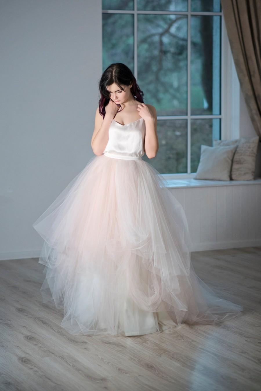 Wedding - Magnolia - tulle wedding skirt / bridal tulle skirt / blush bridal  skirt / whimsical bridal skirt / tulle skirt bridal