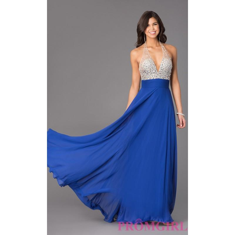 Low Cut Backless Halter Gown By Xcite - Brand Prom Dresses #2704316 ...