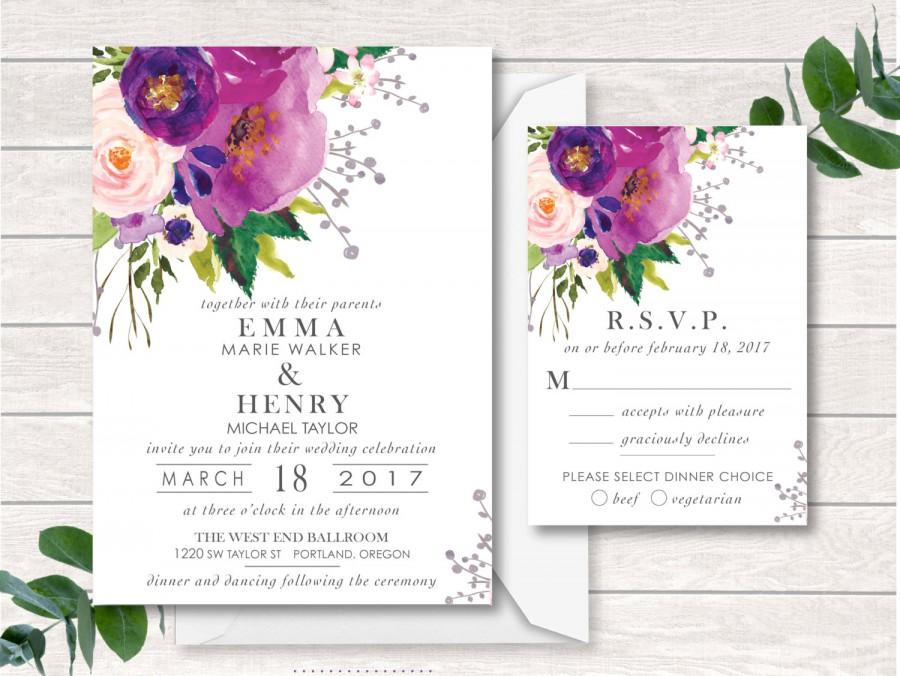Digital Wedding Invitation Wedding Invitation Suite Printable