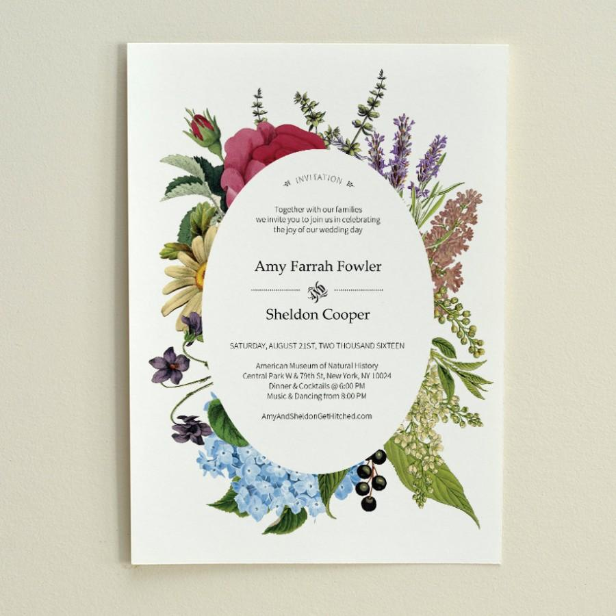 DIY Wedding Invitation - Vintage Floral - Printable PDF Template ...