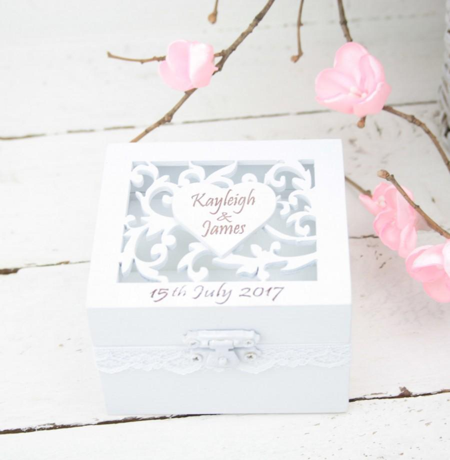 Свадьба - Ring Bearer Box, Wedding/Engagement Ring Box, Personalised Wedding Ring Box, Ring Bearer Pillow,Rustic Wedding Ring Holder,Pillow Bearer Box