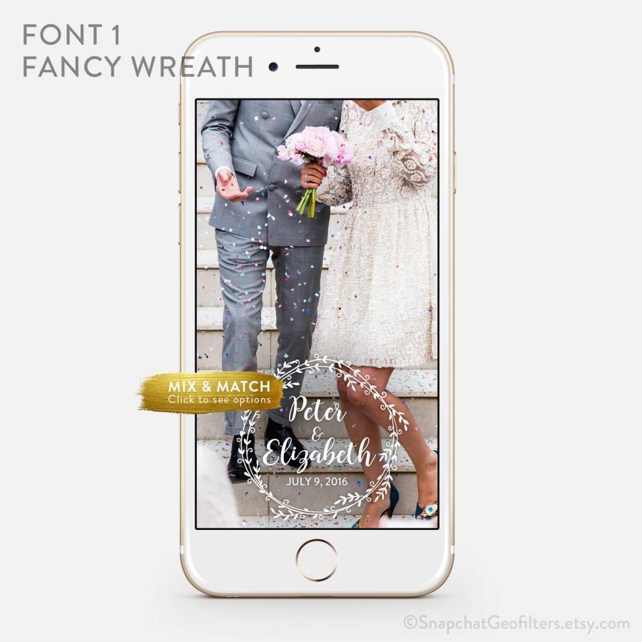 Свадьба - Whimsical Wedding Snapchat Geofilter Personalized Custom On-Demand Geo filter