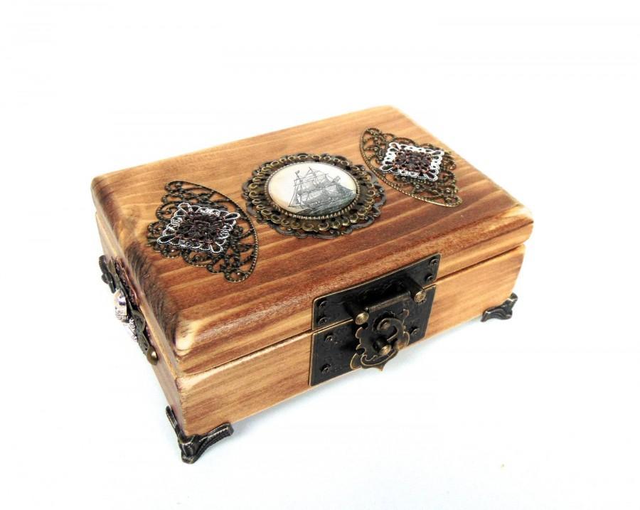 Nautical Jewelry Box Pirate Treasure Chest Pirate Ship