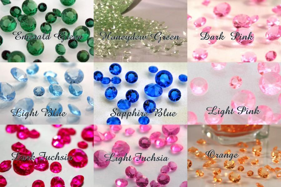 Свадьба - 2000 pcs-Diamond Confetti-5.5mm-2/3 carat - Table Scatter for Centerpieces 1/2 U.S. Cup, Wedding Decorations, Acrylic Crystals,  Fast S/H