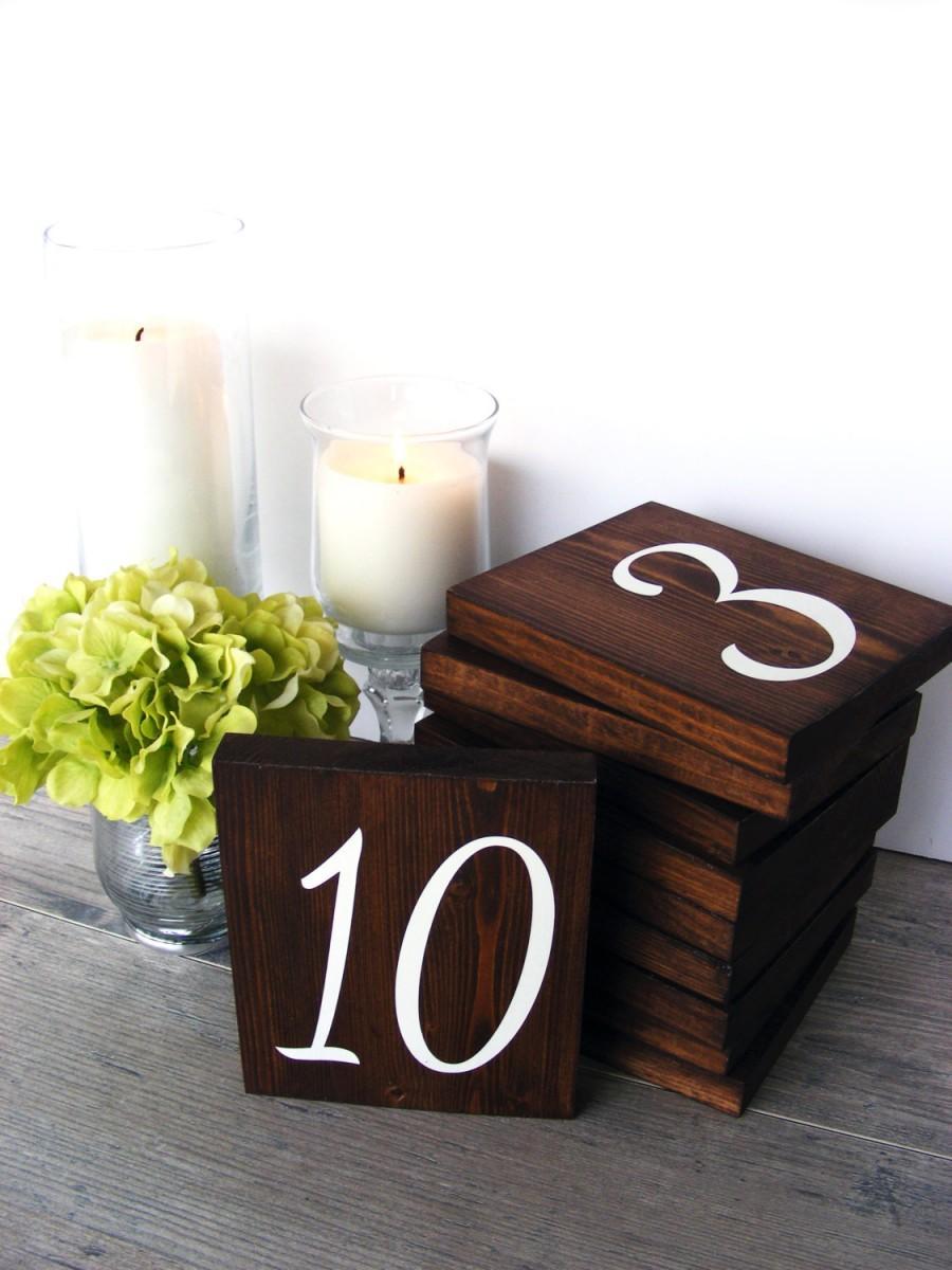 Wood Table Numbers Wedding Table Numbers Rustic Table Numbers