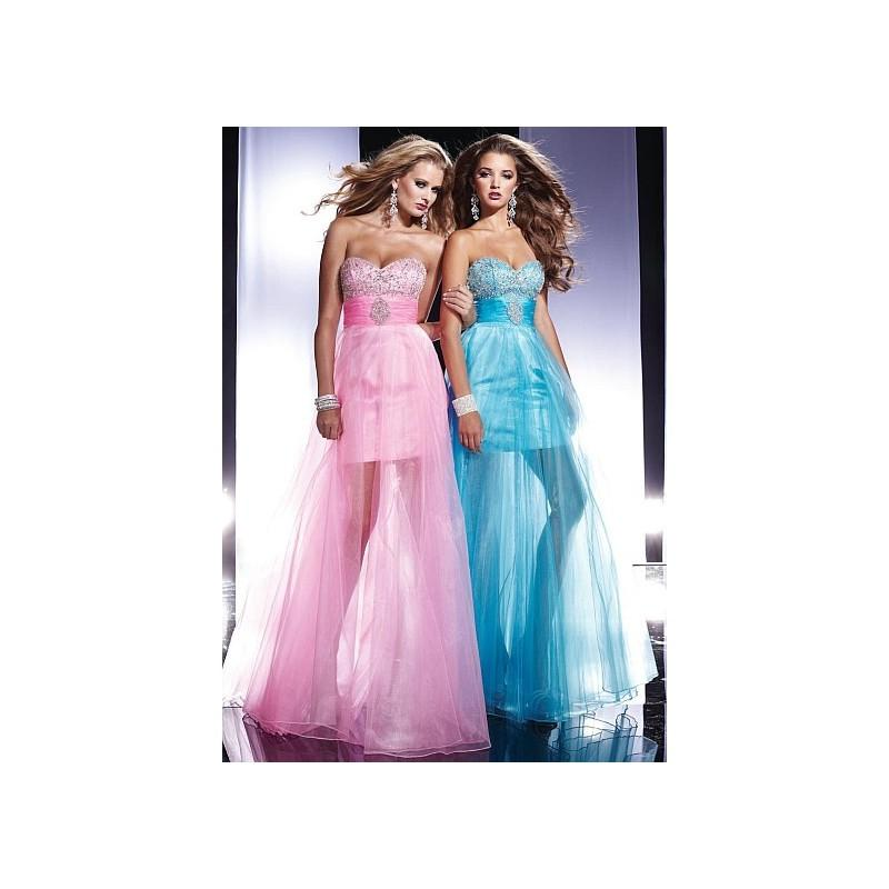 Wedding - Panoply Organza Prom Dress with AB Bodice 14432 - Brand Prom Dresses