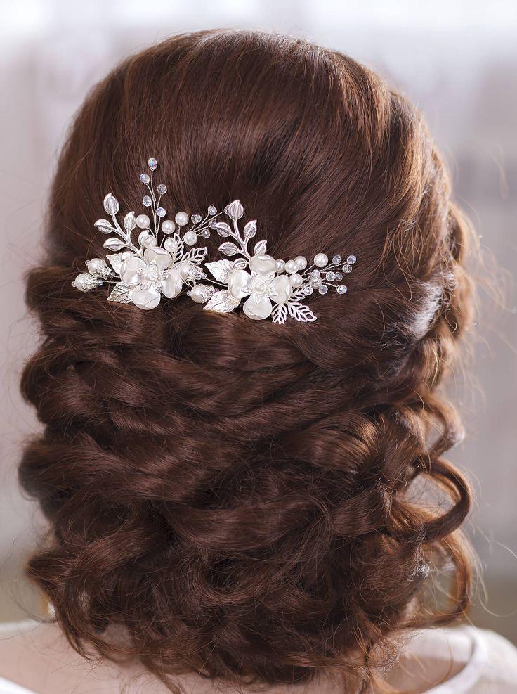 Bridal Hair Pins Wedding Hair Pins Flower Hair Pins Bridal