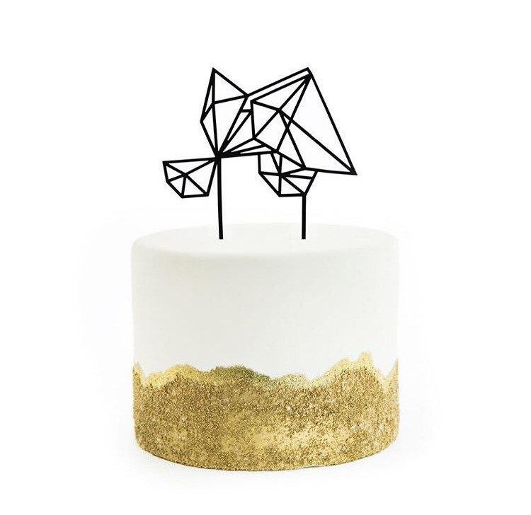 Свадьба - Geometric, Gem, Diamond Shaped Cake Topper Assortment, Laser Cut, Acrylic, 1 Ct.