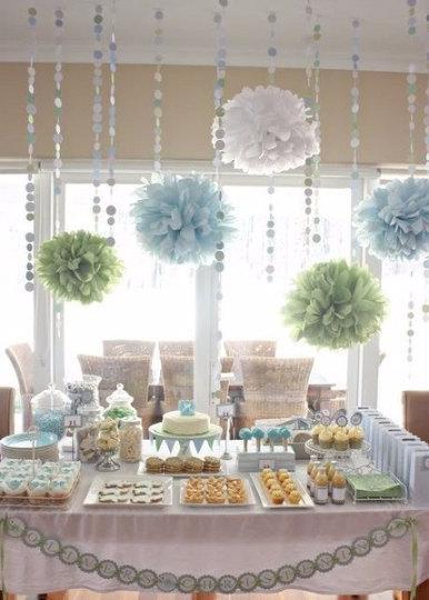 Hochzeit - set of 25 pompoms for nursery room decoration, baby shower, birthday,wedding, bridal shower, baby room, decoration, events, DIY, party