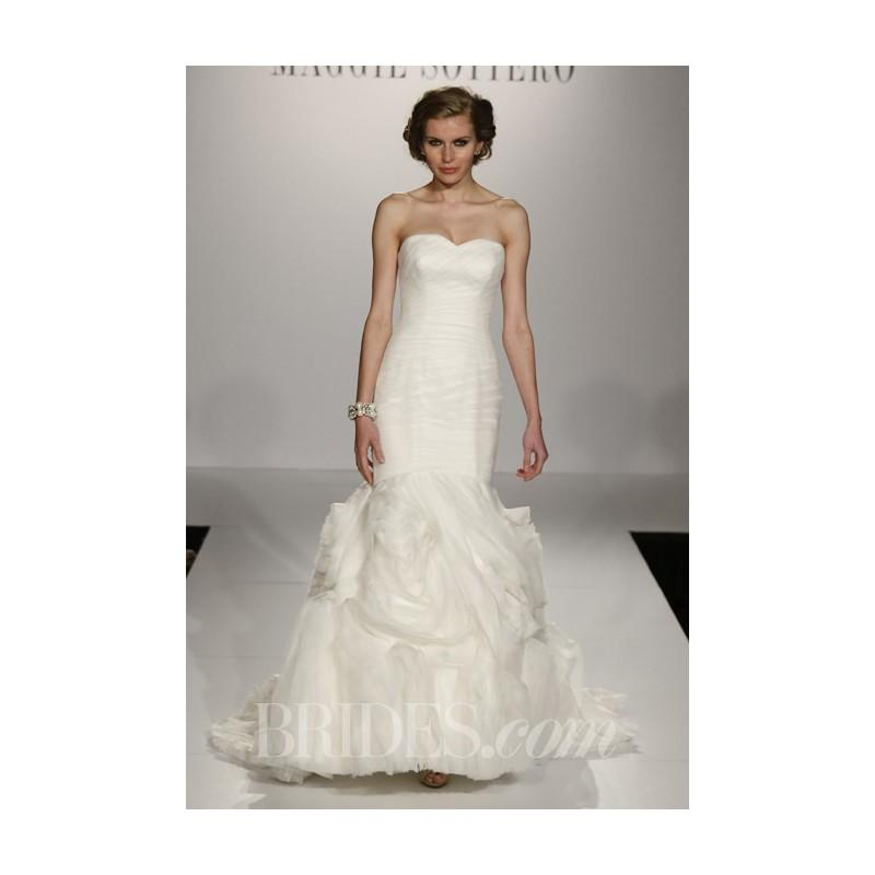 Wedding - Maggie Sottero - Fall 2013 - Primrose Sweetheart Mermaid Gown with Floral Details - Stunning Cheap Wedding Dresses