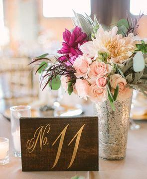 Свадьба - Elegant Rustic Table Numbers / Wooden Wedding Table Numbers / Wedding Decor / Table Decoration / Single table number - TB-9