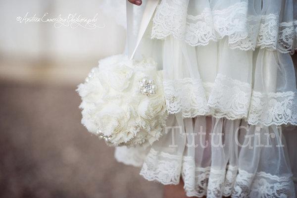 Wedding - Kissing Ball, Flower Girl Pomander, Custom for Girls, Toddlers, Baby