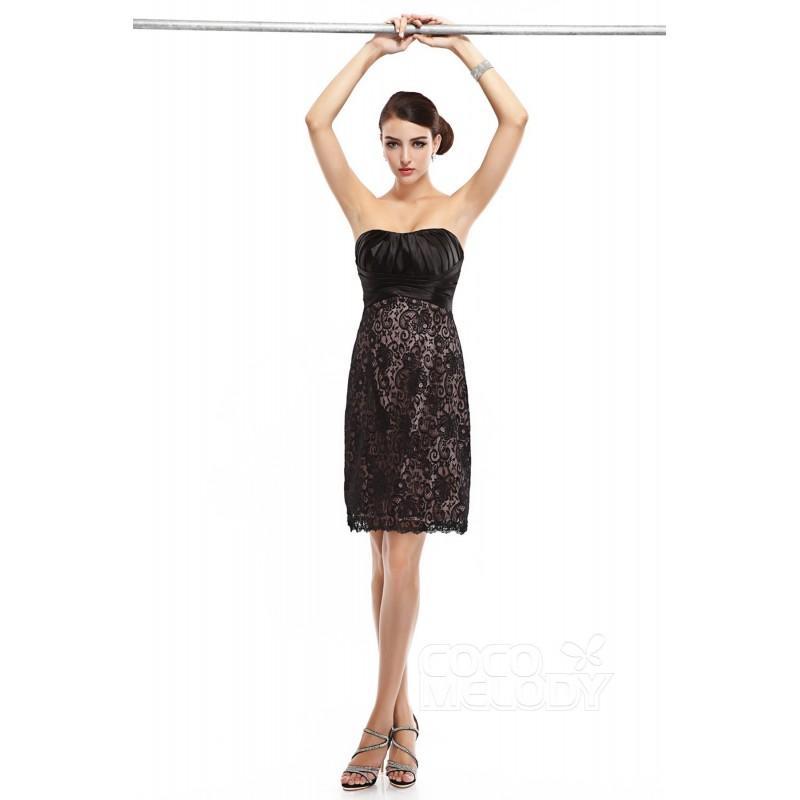 32ef8a49c92e Sheath-Column Sweetheart Short-Mini Lace Black Sleeveless Zipper Little Black  Dresses COZM14010 - Top Designer Wedding Online-Shop
