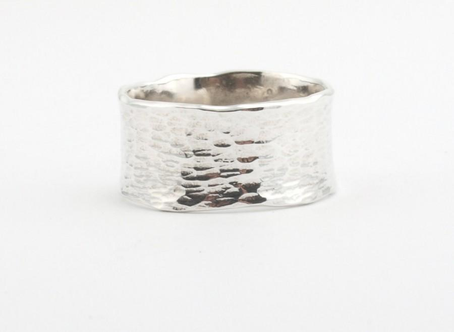زفاف - Wide Rings, Sterling Silver Ring, Silver Rings,Woman Ring, Hammered Rings,Love Silver Rings, Christmas gift